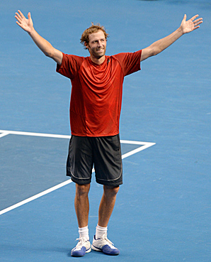 No. 119 Stephane Robert made the fourth round as a lucky loser.