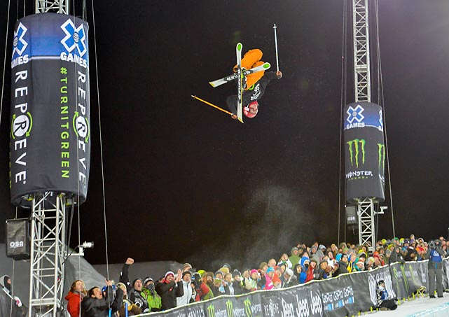 Alex Ferreira jumps during Friday's Winter X-Games Ski Superpipe final in Aspen, Colo. Ferreira won the bronze medal.