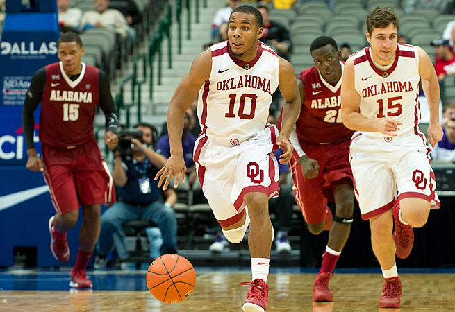 Jordan Woodard has been a key leader in Oklahoma's offense this season, averaging 11.3 points per game.