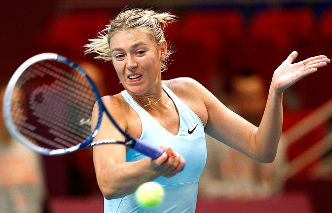 Maria Sharapova broke Daniela Hantuchova's serve six times in her 6-0, 6-1 drubbing of the Slovak.