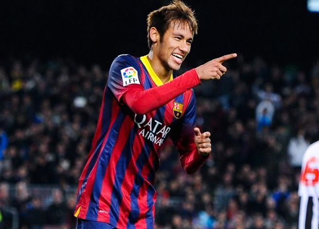 Barcelona sent Brazilian club Santos 17 million euros as part of its agreement to acquire Neymar.