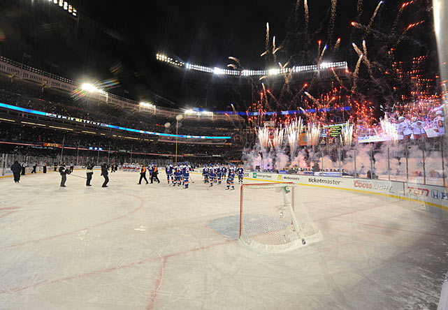 Now customary at the NHL's outdoor events, a touch of spectacle was provided by postgame fireworks and an earlier musical performance by Cee Lo Green.