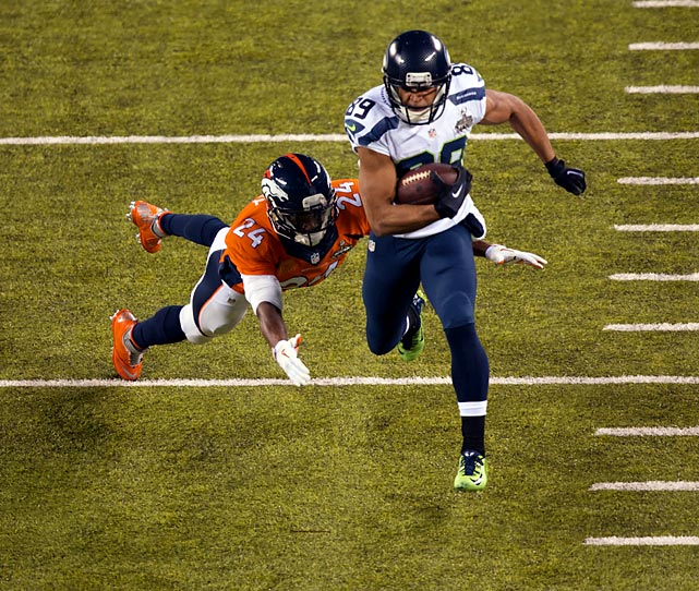 Doug Baldwin led the Seahawks in receptons (5) and yards (66) and also scored a touchdown.