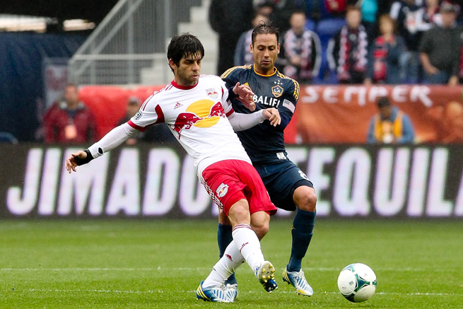 Former Brazil midfielder Juninho, left, played for the New York Red Bulls last season. The veteran retired on Monday.