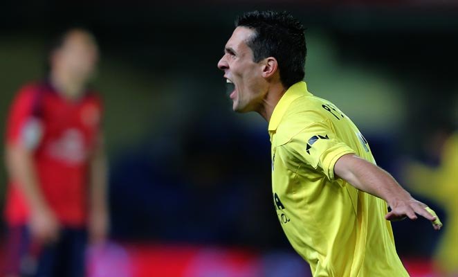 French forward Jeremy Perbet scored the first goal in Villareal's 3-1 win over Osasuna on Monday night.