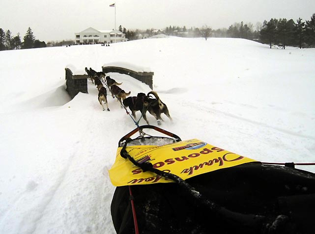 The John Beargrease Sled Dog Marathon takes place in Minnesota. Competitors start in Duluth on the shores of Lake Superior, and race along the lakeshore toward the Canadian border. The race finishes back in Duluth.
