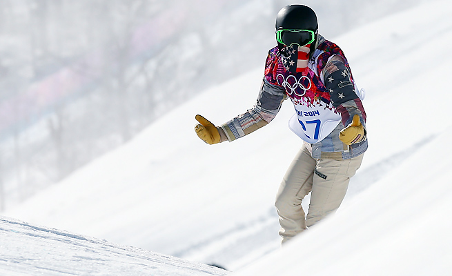 """Shaun White called the Sochi Olympic slopestyle course """"intimidating"""" after a training run Tuesday."""
