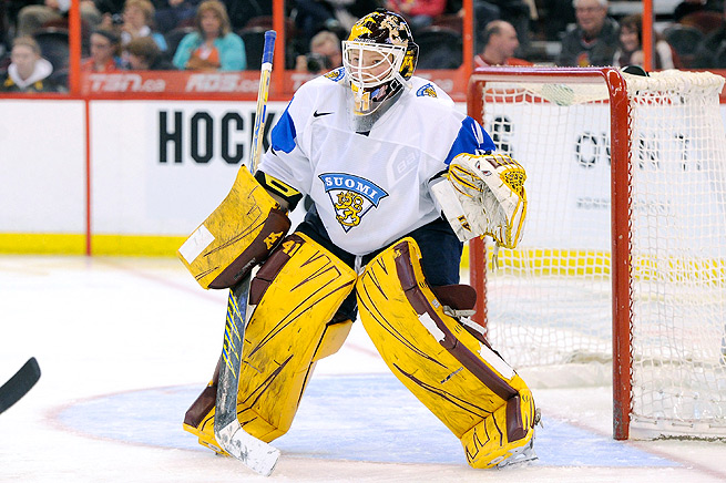 Finland's goalie Noora Raty stopped 58 shots against the U.S. at the Four Nations Cup in 2013.