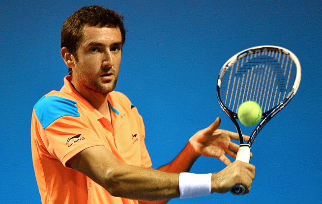 Marin Cilic breezed past Dusan Lajovic of Serbia 6-4, 7-5 to reach the quarterfinals in Zagreb.