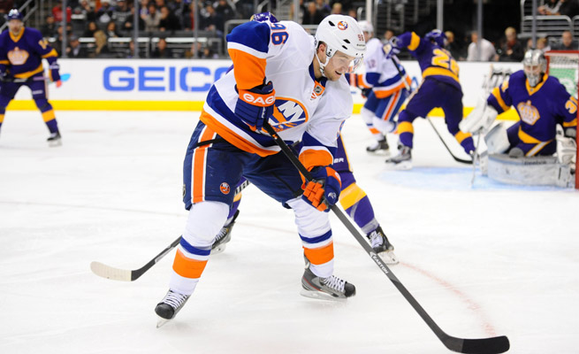 Pierre-Marc Bouchard had four goals and nine points in 28 games for the Islanders this season before being traded to Chicago.