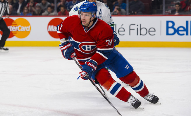 Alexei Emelin has one goal and eight points for the Canadiens through 36 games this season.