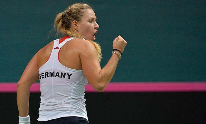 Angelique Kerber's win helped Germany take a commanding lead in their Fed Cup matchup.