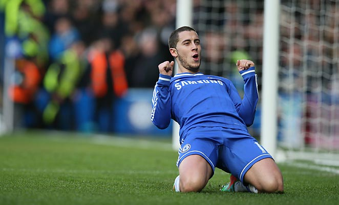 Eden Hazard's well-taken hat trick carried Chelsea over Newcastle United on Saturday.