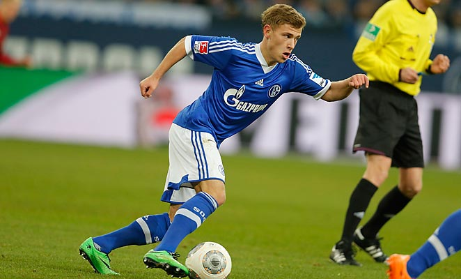 Max Meyer scored Schalke's second goal in a 2-0 win over Hanover 96 in the Bundesliga on Sunday.