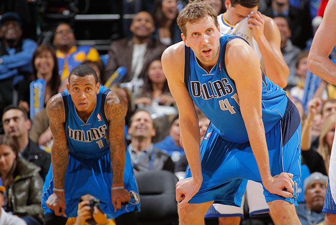 Monta Ellis (19.3 ppg) is Dirk Nowitzki's highest-scoring teammate since Michaley Finley in 2001-02.