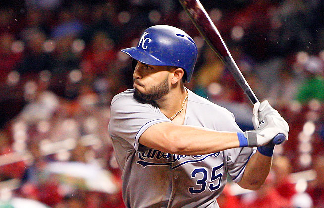 Eric Hosmer's improvement in hitting to all fields let him to rebound from a difficult 2012 last season.