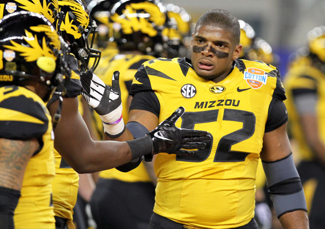 Michael Sam, who helped lead Missouri to a 12-2 record last season, is preparing for the 2014 NFL draft.