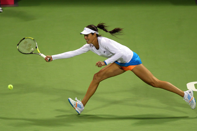 Ivanovic was leading 7-5, 1-0 when Daniela Hantuchova withdrew with a right knee injury after falling 0-40 behind in the second game.