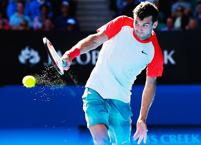 Grigor Dimitrov made the Australian Open quarterfinals, his best showing at a Grand Slam tournament.