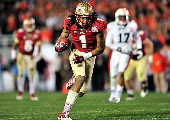Kelvin Benjamin had 15 touchdown catches for a Florida State team that won the BCS title last season.