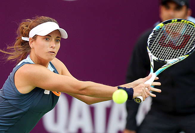 Petra Cetkovska recorded her second victory against a player ranked in the top three.