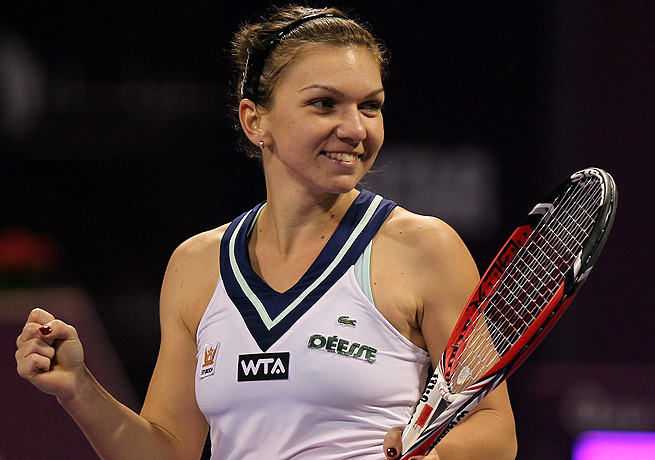 Simona Halep dug herself out of a big first-set hole to take out Agnieszka Radwanska in Doha.