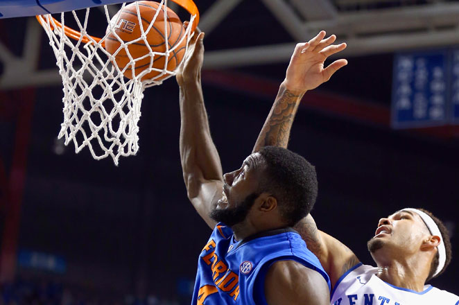 Patric Young on his own has played more college games than all of Kentucky's starters combined.
