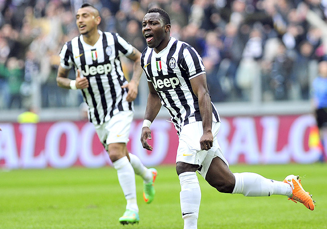 Kwadwo Asamoah put Juventus on the board against Chievo with a goal in the 18th minute.