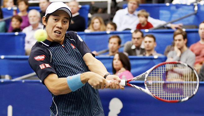 Kei Nishikori topped Ivo Karlovic to win the U.S. National Indoor Tennis Championships.