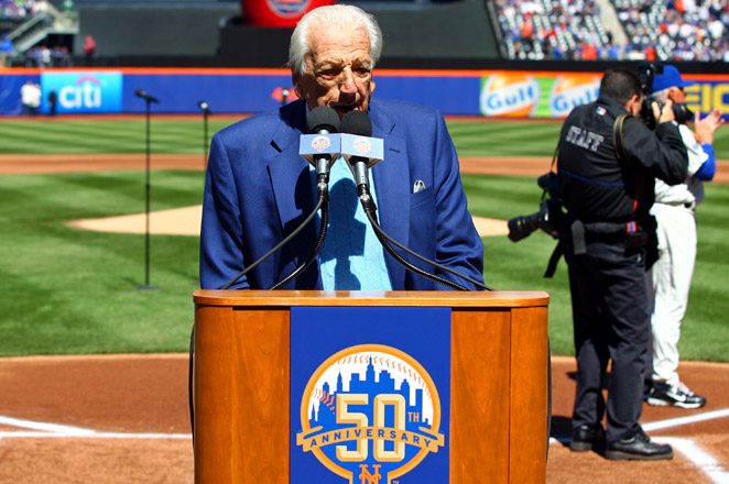 Kiner, who died on February 6 at age 91, joined the Mets' broadcast team in the club's inaugural season of 1962.