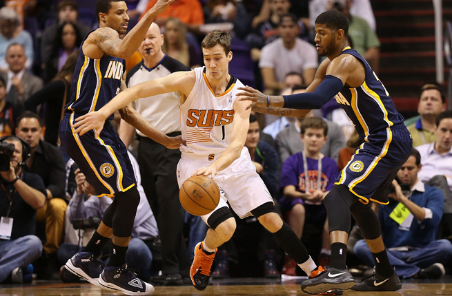 Goran Dragic (center) and the Phoenix Suns have been two of the NBA's biggest surprises this season.