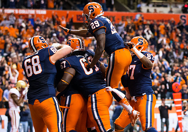 Syracuse won four of its final six games in 2013, including a 34-31 win over Boston College on Nov. 30.