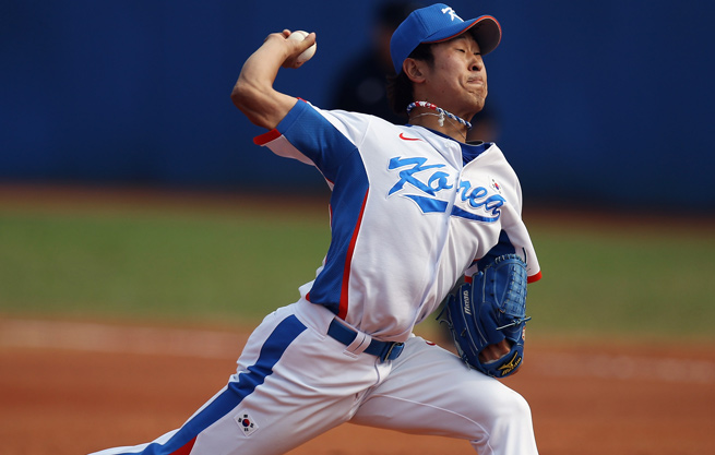 27-year-old Suk-min Yoon has spent his entire professional career pitching in Korea.