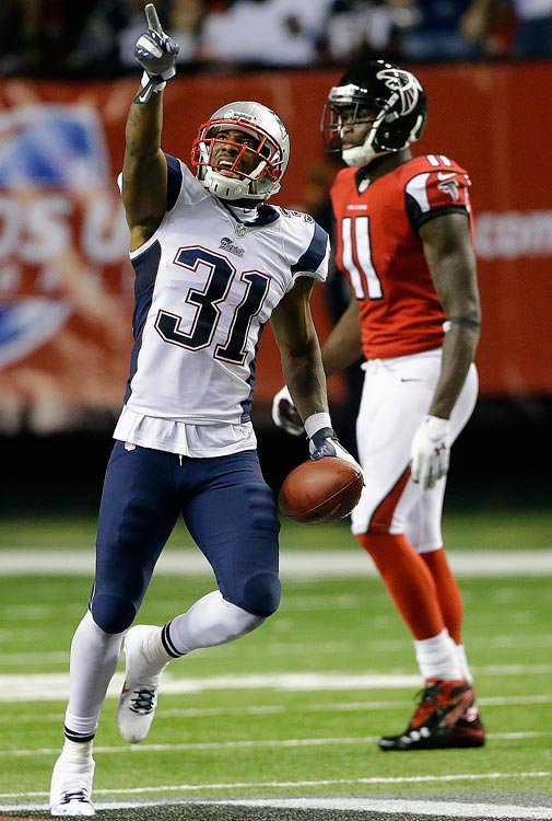 Scheduled to hit free agency this offseason, Talib chose a good time to have the best season of his seven-year NFL career. He proved himself a lockdown cornerback for New England in 2013, intercepting four passes and helping the Patriots reach the AFC Championship Game along the way.