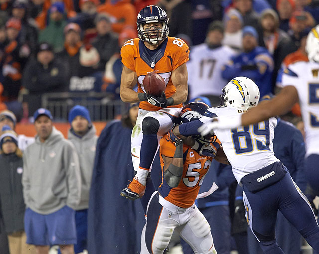 Decker has emerged as one of the league's most promising receivers, particularly in the last two seasons while catching passes from Peyton Manning. Decker caught 85 passes in 2012 and 87 passes in '13, with 13 and 11 receiving touchdowns, respectively. The former Minnesota Golden Gophers standout has stated that he wants to return to Denver, but the Broncos are already loaded with receiving targets Demaryius Thomas, Wes Welker and Julius Thomas.