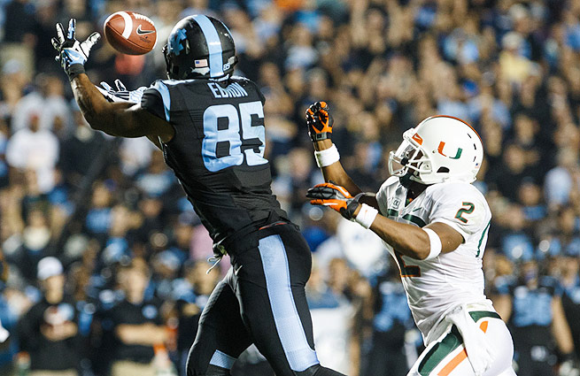 The top tight end in the class, Eric Ebron could be on the rise in the next few weeks.
