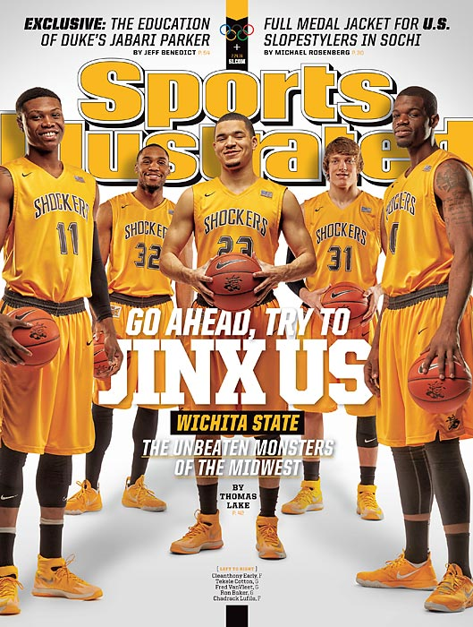 The Wichita State Shockers appear on the other regional cover. The Shockers, one of two remaining undefeated teams in Division I (Syracuse is the other), face every opponent's best game after their Final Four run a year ago.