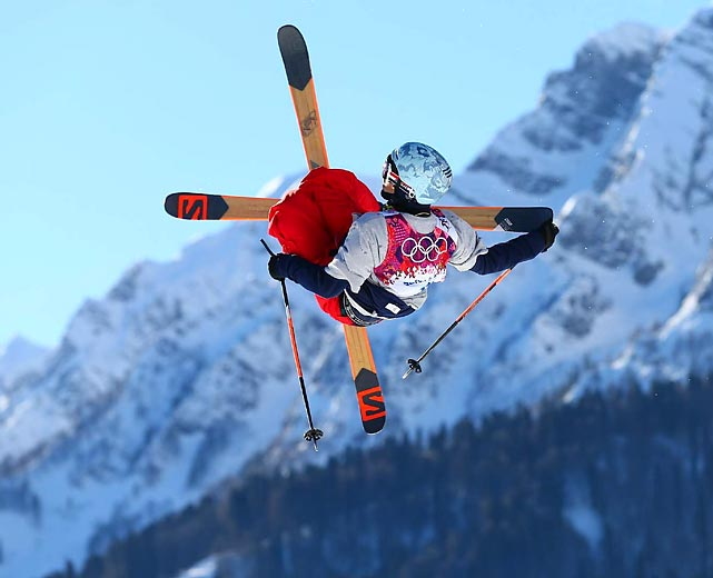 Nicholas Goepper of the U.S. glides through the air during last Thursday's qualification for the Ski Slopestyle event in Sochi. Goepper won the bronze medal in the competition.