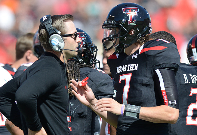 Texas Tech coach Kliff Kingsbury has had three quarterbacks transfer since the end of last season.