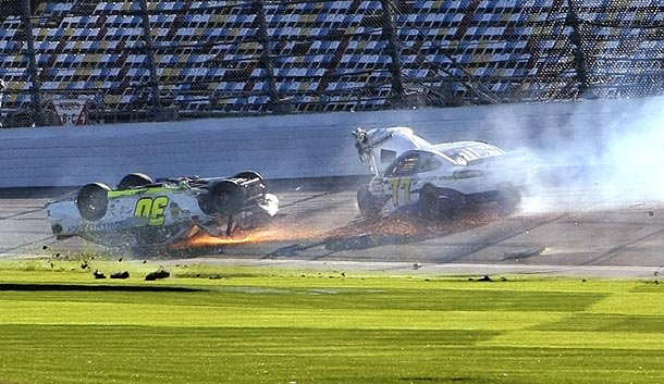 It was a rough start to the year for Parker Kligerman (30), whose primary Daytona 500 car was ruined.