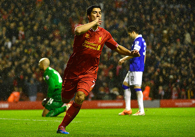 American fans may get a chance to see Liverpool's Luis Suarez, who currently leads the EPL in goals.