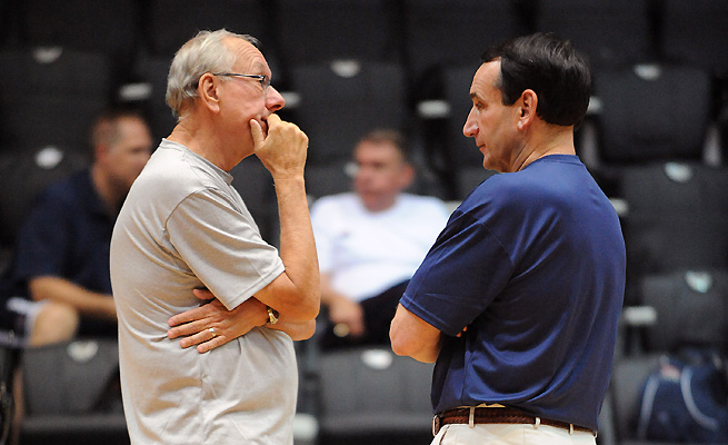 Mike Krzyzewski and Jim Boeheim are the No. 1 and No. 2, respectively, on the all-time wins list.