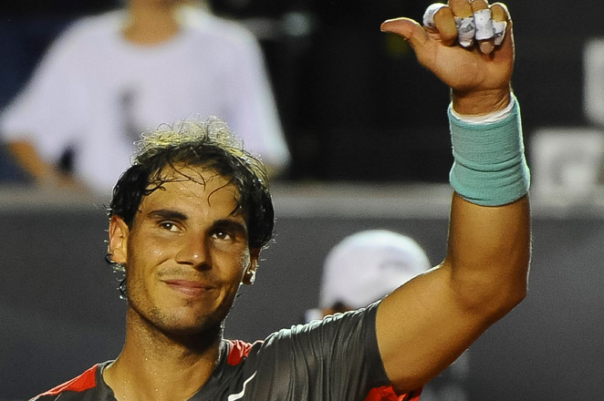 Rafael Nadal showed no problems with a sore back in his defeat of Joao Sousa of Portugal in the Rio quarterfinals.