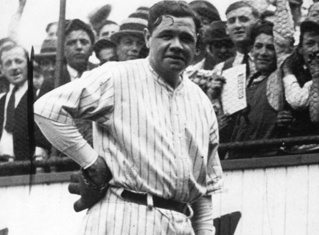 Babe Ruth and the Yankees won the franchise's first World Series in 1923 over the New York Giants.