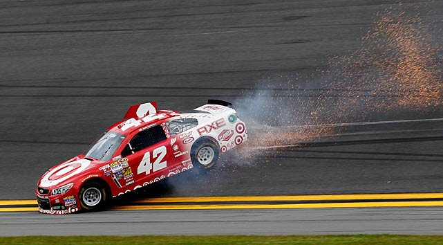 Kyle Larson was involved in an early incident but remained in the race.