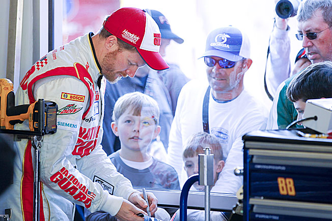 Dale Earnhardt, Jr., NASCAR's most popular driver, is now more accessible than ever to his many fans.