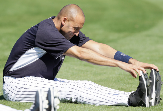 Issues with Derek Jeter's right ankle, calf and quadriceps limited him to 17 games in 2013.