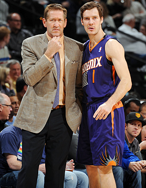 Suns coach Jeff Hornacek (left) has coaxed a career year from guard Goran Dragic.
