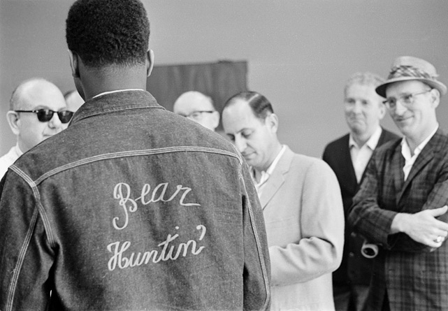 "In the build-up to the fight, Ali had dubbed the menacing Liston ""The Big Bear,"" and he made clear his intentions with the message on his jacket. Still, most observers felt that the challenger, here at the 5th Street Gym in Miami, was in for a mauling."