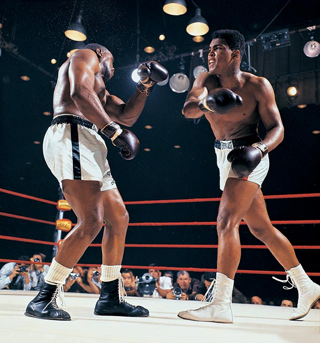 Clay not only made Liston miss, he also repeatedly stung the champion with a long, lacing jab and sharp overhand rights. Liston had never before been hit so readily.